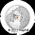 Outline Map of AEttestupan, rectangular outline