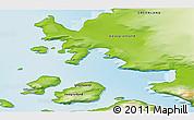 Physical 3D Map of Kullorsuaq