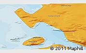 Political 3D Map of Kullorsuaq