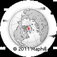 Outline Map of Kullorsuaq, rectangular outline