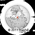 Outline Map of Mys Zhelaniya, rectangular outline