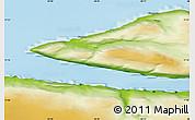 Physical Map of Narsaq