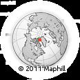 Outline Map of Narsaq, rectangular outline
