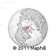 Outline Map of Kangerlussuaq, rectangular outline