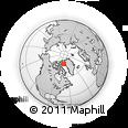 Outline Map of Qaanaaq, rectangular outline