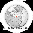 Outline Map of Mys Chelyuskin, rectangular outline