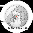 Outline Map of North Pole (santas Workshop), rectangular outline