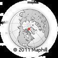 Outline Map of Ellesmere Island, rectangular outline