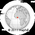 Outline Map of Nkaneku, rectangular outline