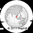 Outline Map of Phatthalung, rectangular outline