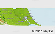 Physical Panoramic Map of Phatthalung