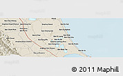 Shaded Relief Panoramic Map of Phatthalung