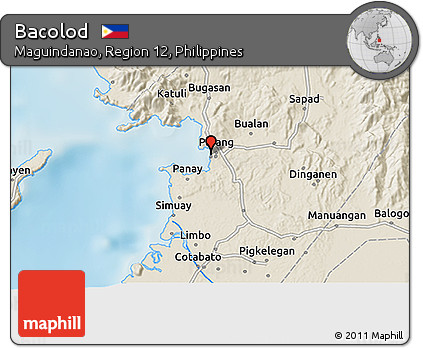 Free Shaded Relief 3D Map of Bacolod