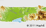 "Physical Panoramic Map of the area around 7° 30' 57"" N, 125° 52' 30"" E"