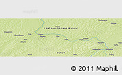 "Physical Panoramic Map of the area around 7° 30' 57"" N, 17° 55' 29"" E"