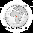 Outline Map of Takara Gribinzi, rectangular outline