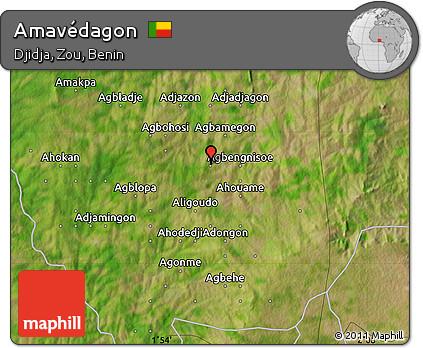 Satellite Map of Amavédagon