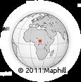 Outline Map of Bingou, rectangular outline