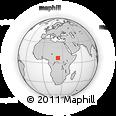 Outline Map of Akpa, rectangular outline