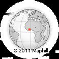 Outline Map of Kouadiokro, rectangular outline