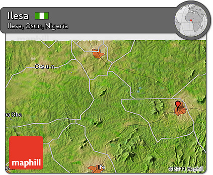 Free Satellite D Map Of Ilesa - Ilesa map