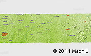 Physical Panoramic Map of Ikire