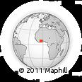 Outline Map of Konandrikro, rectangular outline