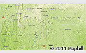 """Physical 3D Map of the area around 7°30'57""""N,5°10'30""""E"""