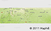 """Physical Panoramic Map of the area around 7°30'57""""N,5°10'30""""E"""