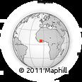 Outline Map of Côte D'Ivoire, rectangular outline