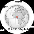 Outline Map of Dekina, rectangular outline