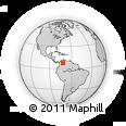 Outline Map of Iglesia Catolica San Gabriel Arcangel El Piñal, rectangular outline
