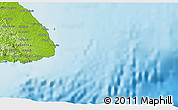 """Physical 3D Map of the area around 7°30'57""""N,79°49'29""""W"""