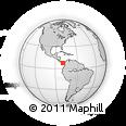Outline Map of Bella Vista, rectangular outline