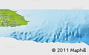 """Physical Panoramic Map of the area around 7°30'57""""N,79°49'29""""W"""