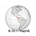 """Outline Map of the Area around 7° 30' 57"""" N, 80° 40' 30"""" W, rectangular outline"""
