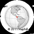 Outline Map of Macaracas, rectangular outline