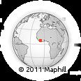 Outline Map of Danane, rectangular outline