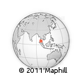 Outline Map of Trang, rectangular outline