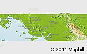 Physical Panoramic Map of Trang