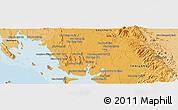 Political Panoramic Map of Trang
