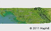 Satellite Panoramic Map of Trang