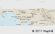 Shaded Relief Panoramic Map of Trang