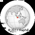Outline Map of Sukabumi, rectangular outline