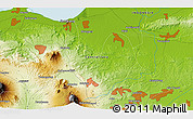 """Physical 3D Map of the area around 7°10'2""""S,110°34'29""""E"""