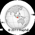 Outline Map of Stiker Motor, rectangular outline