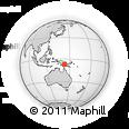 Outline Map of Komewu, rectangular outline