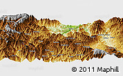 Physical Panoramic Map of Bulolo