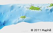 """Physical Panoramic Map of the area around 7°10'2""""S,155°37'30""""E"""