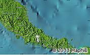 "Satellite Map of the area around 7°10'2""S,157°19'29""E"